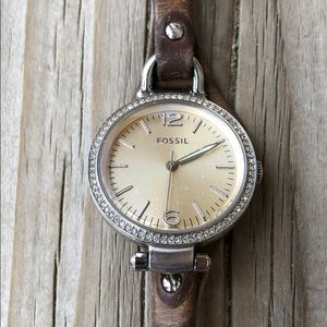 Fossil Distressed Antique Metal Finish Watch!